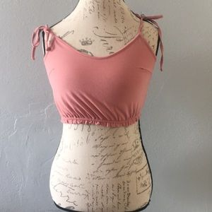 Forever21 Pink Crop Top Size S